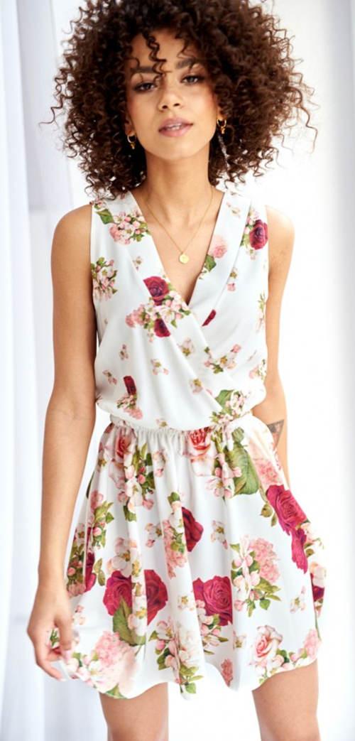 Společenské letní šaty bez rukávů