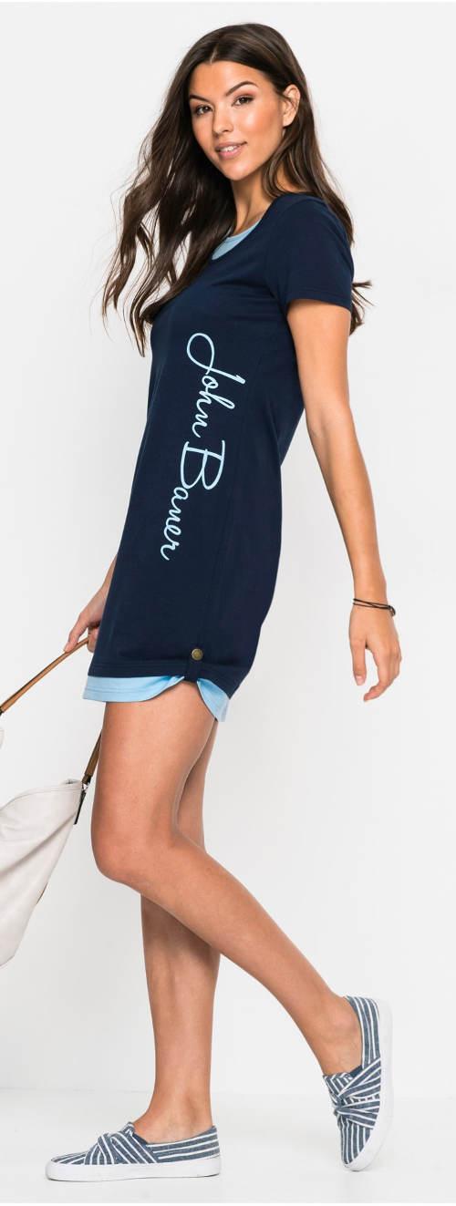 Tmavě modré sportovní dámské šaty
