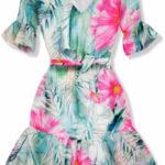 Volánové šaty Olivia s květinovým potiskem
