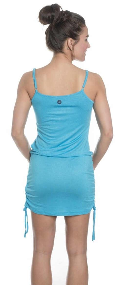 Modré sportovní letní šaty se stahovacími šňůrkami