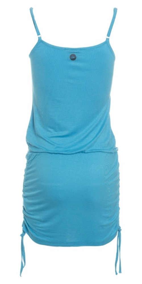 Sportovní letní krátké šaty se stahovací gumou v pase a šňůrkami na bocích sukně