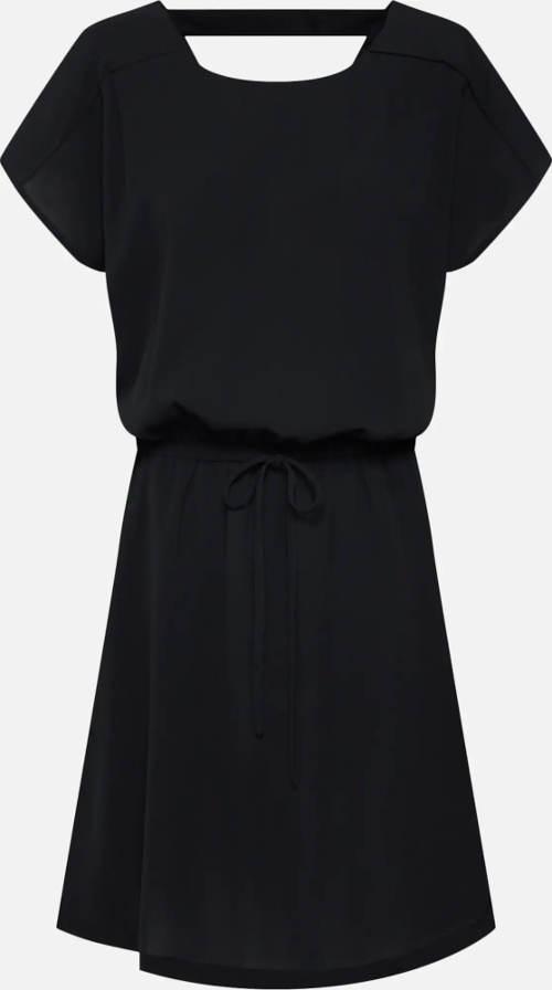 Černé dámské šaty s krátkým rukávem