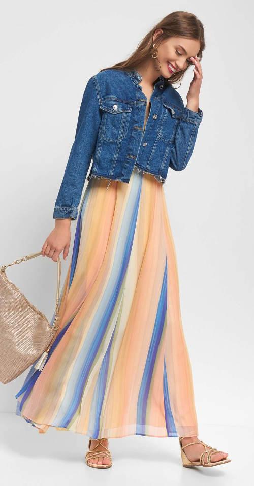 Dámské maxi šaty Orsay