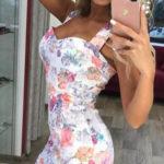 Letní květované dámské midi šaty