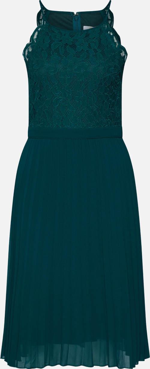Zelené koktejlové šaty s krajkou