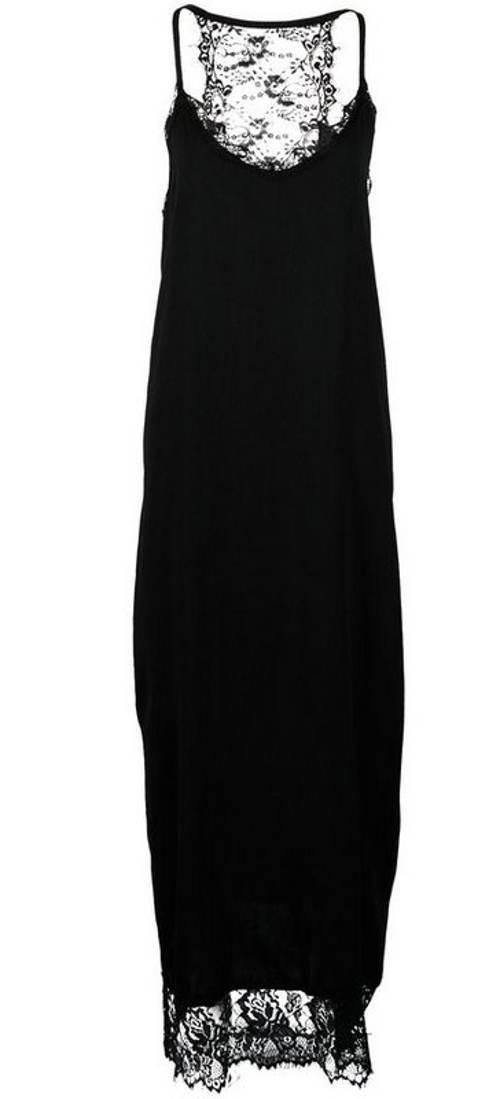 Dlouhé černé šaty s krajkou