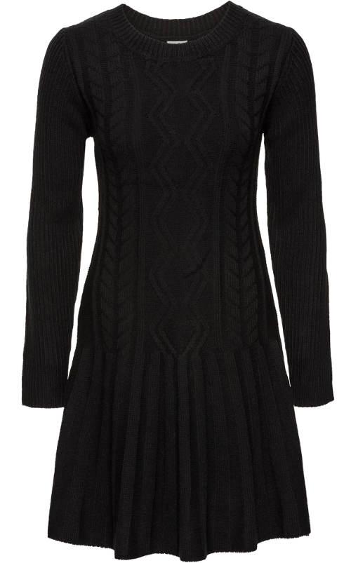 Černé svetrové dámské šaty