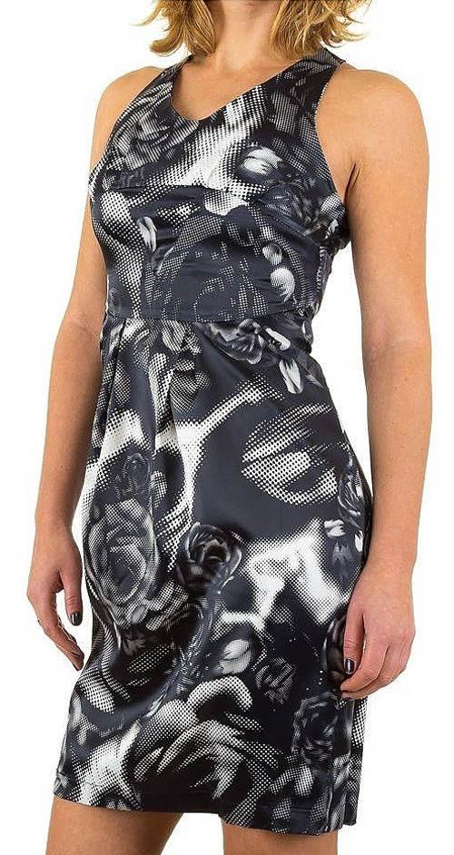 Černobílé abstraktní šaty