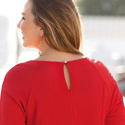 Jednobarevné červené dámské šaty