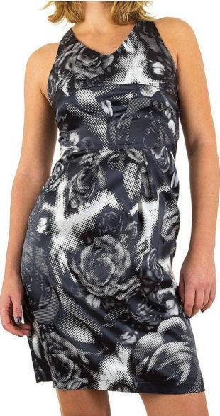 Levné dámské šaty s abstraktním vzorem