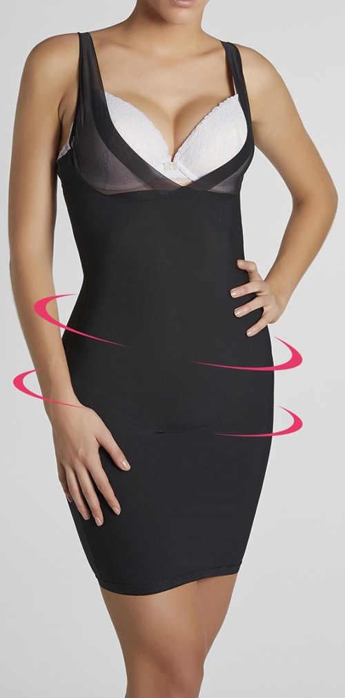 Stahovací šaty zeštíhlující o dvě velikosti