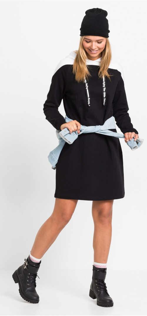 Zimní sportovní mikinové šaty