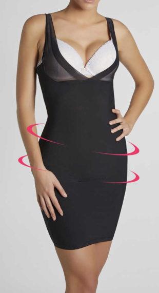 Stahovací šaty Delia se všitou kalhotkovou částí a push-up efektem