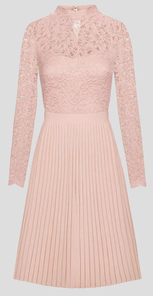Elegantní šaty se skrytým zipem