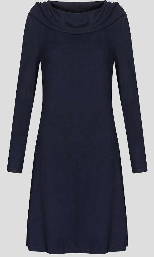 Hřejivé šaty pro zimní období