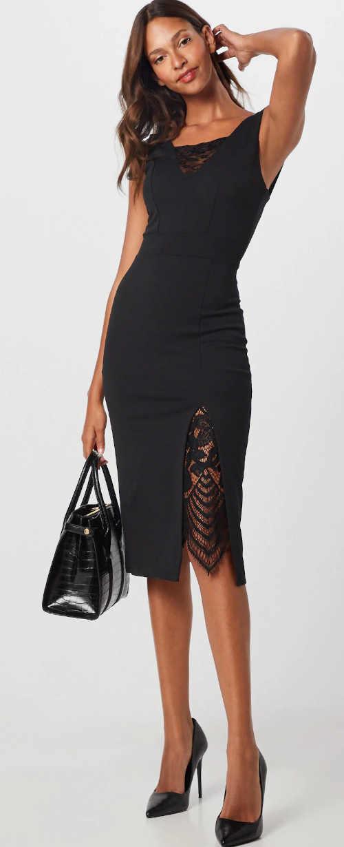 Přiléhavé šaty s výstřihem do V