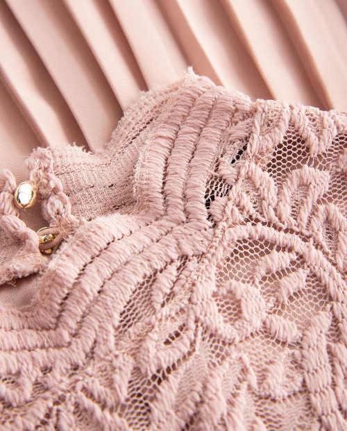 Romantické plísované šaty