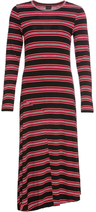 Dlouhé pruhované žerzejové šaty