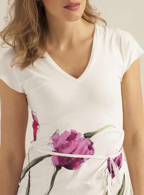Italské letní šaty s květinovým potiskem