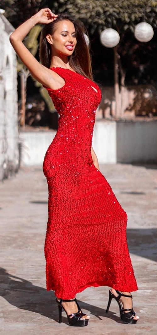 Luxusní červené šaty na věneček