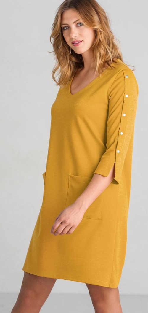 Volné dámské šaty z úpletu Miláno