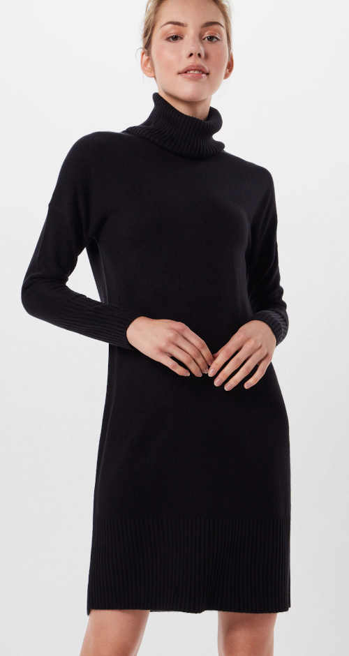 Zimní úpletové šaty s rolákem