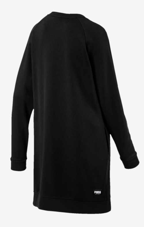 Černé mikinové šaty bez kapuce
