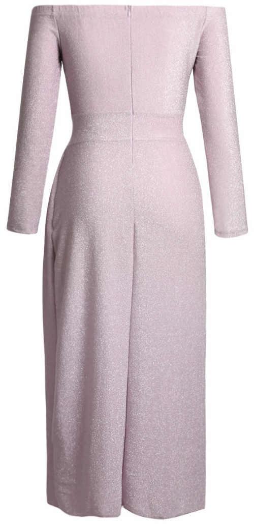 Dlouhé společenské dámské šaty s dlouhým rukávem