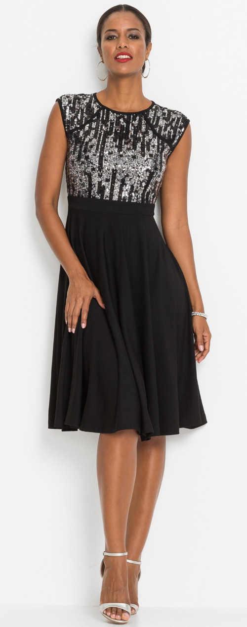 Elegantní společenské šaty bez rukávů