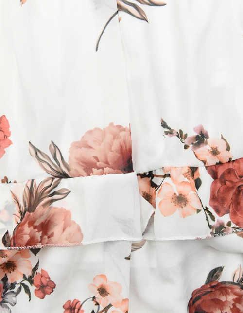 Šaty s květinovým potiskem a drobným volánkem