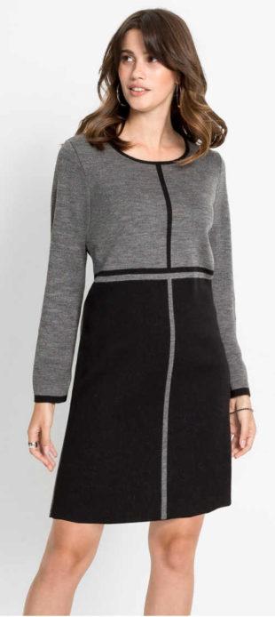Teplákové dámské společenské šaty