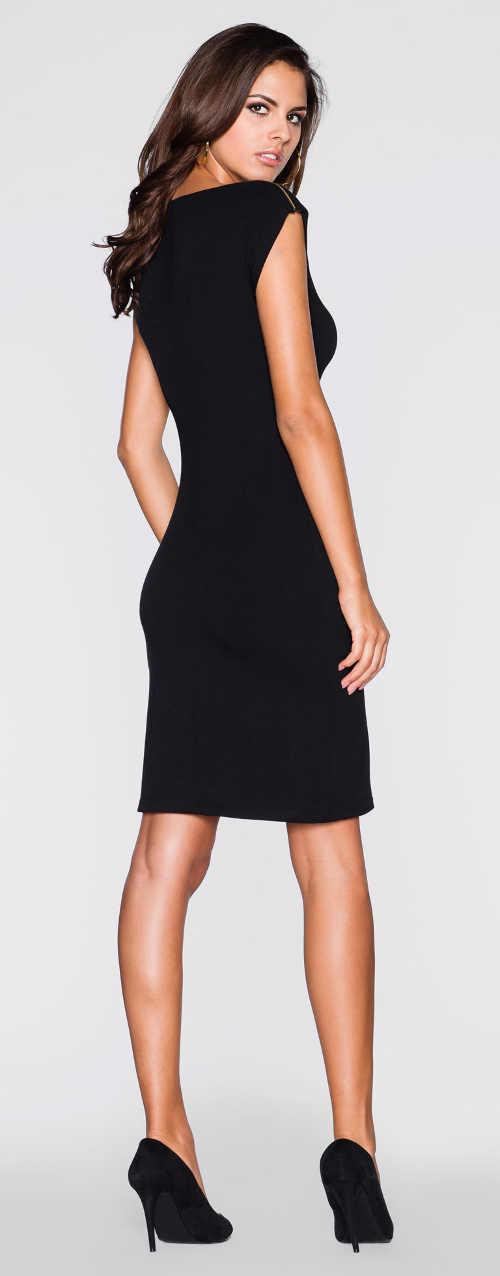 Levné černé elegantní šaty