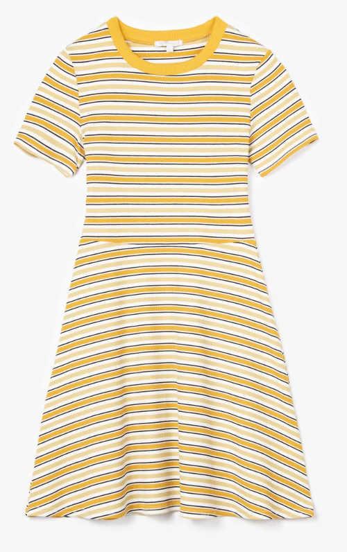 Zlevněné tričkové dámské šaty s proužky