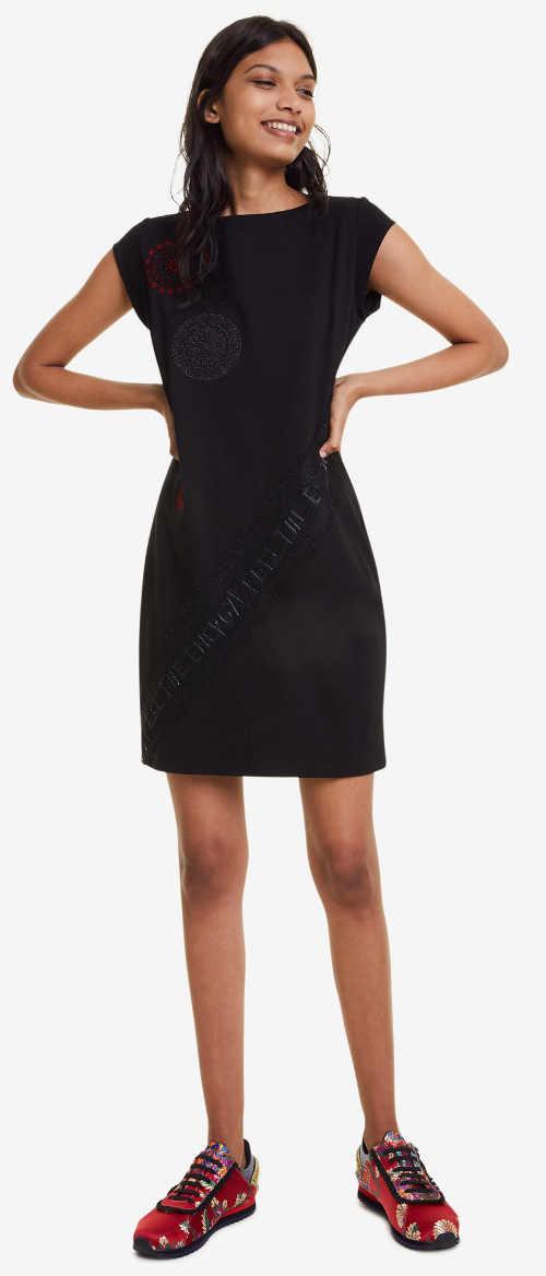 Černé dámské šaty Desigual letní výprodej