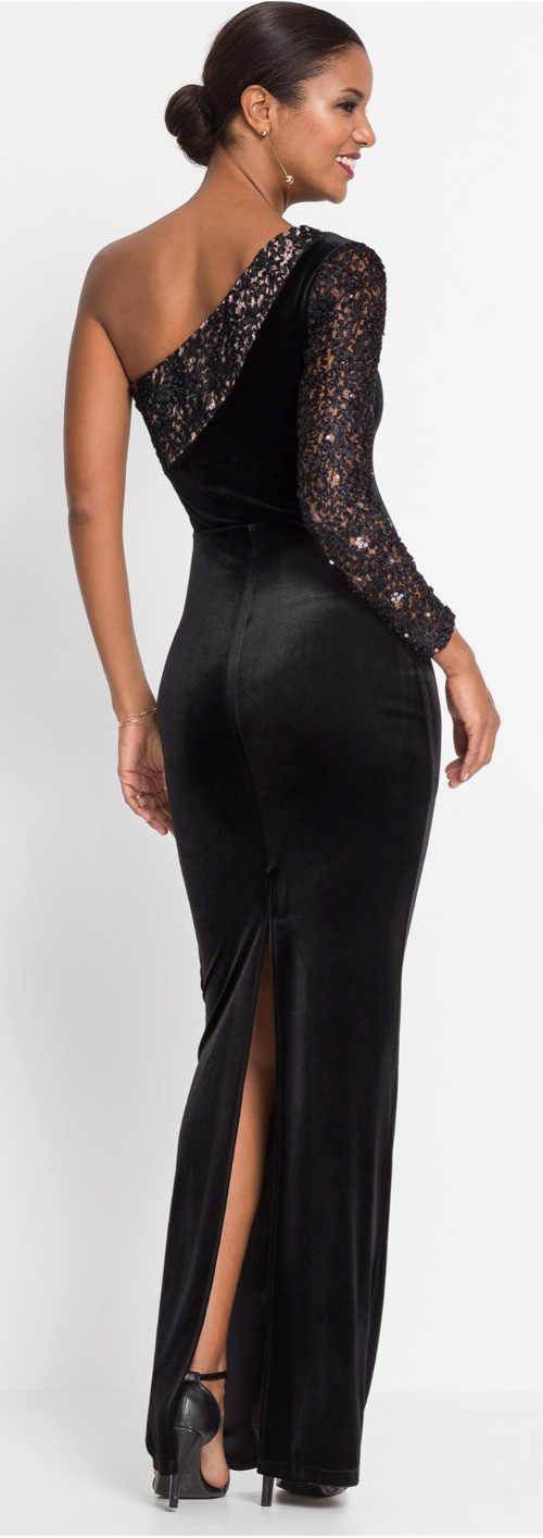 Černé společenské šaty maxi délky