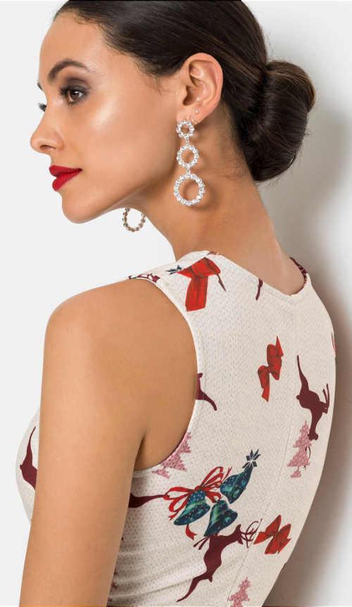 Elegantní dámské vánoční šaty
