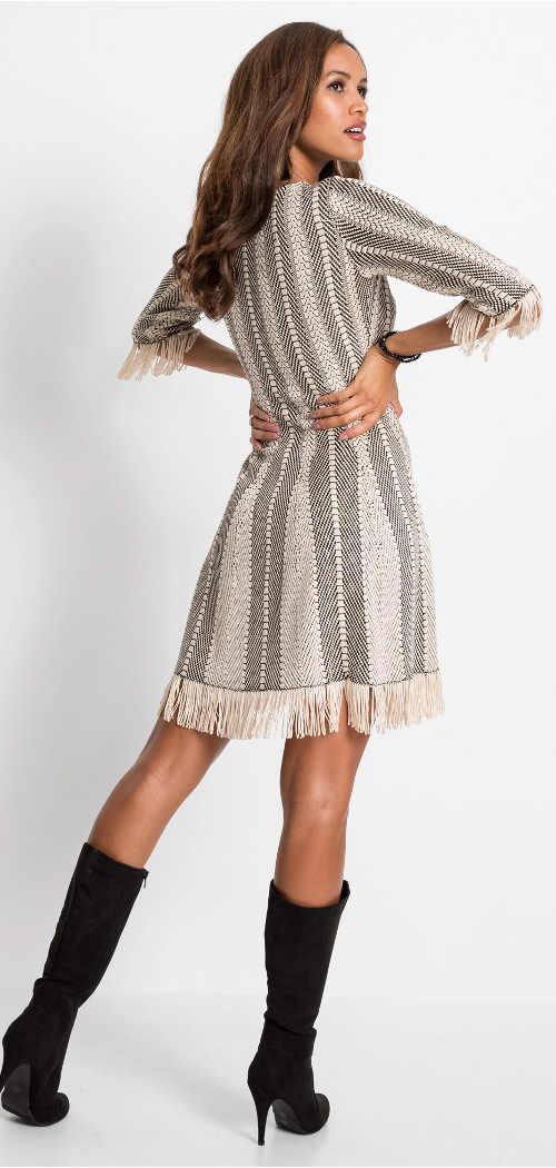 Pletené dámské šaty country styl