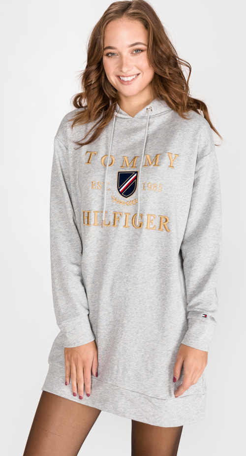 Sportovní teplákové dámské šaty Tommy Hilfiger Kristal