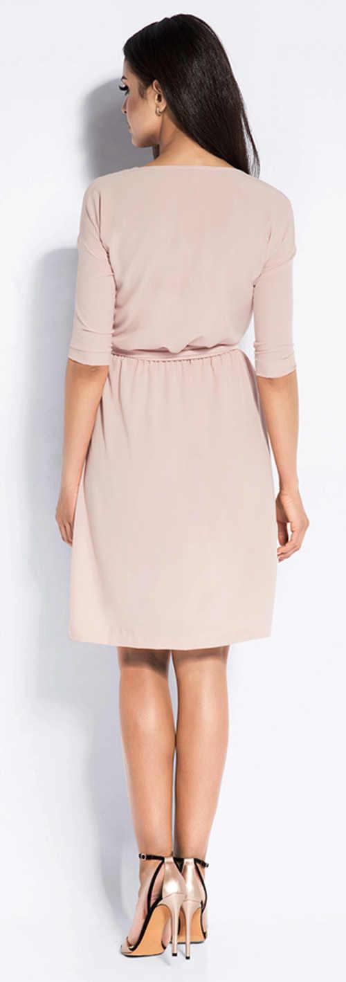 Společenské dámské šaty s páskem