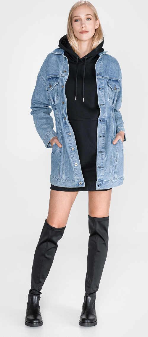 Zimní mikinové mini šaty Calvin Klein