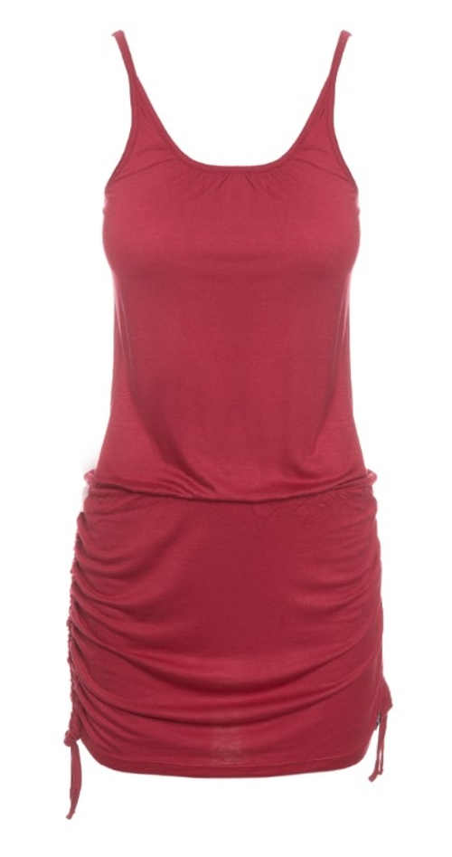 Levné červené letní šaty SAM 73