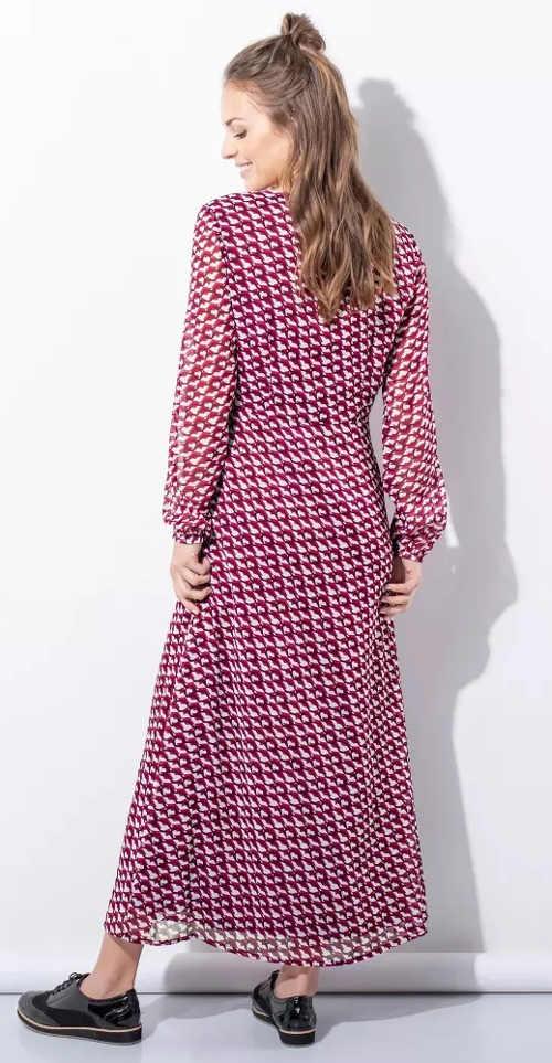 Výprodej dlouhé fialové dámské šaty