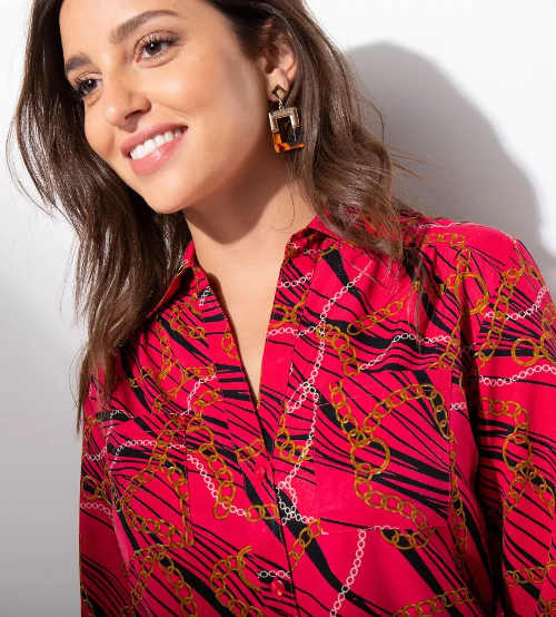 Celopropínací šaty s košilovým límečkem