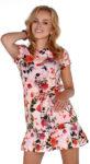 Dámské letní květinové šaty zakončené mírně zřaseným volánem