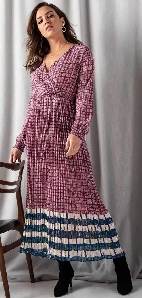 Dlouhé plisované maxi šaty Blancheporte