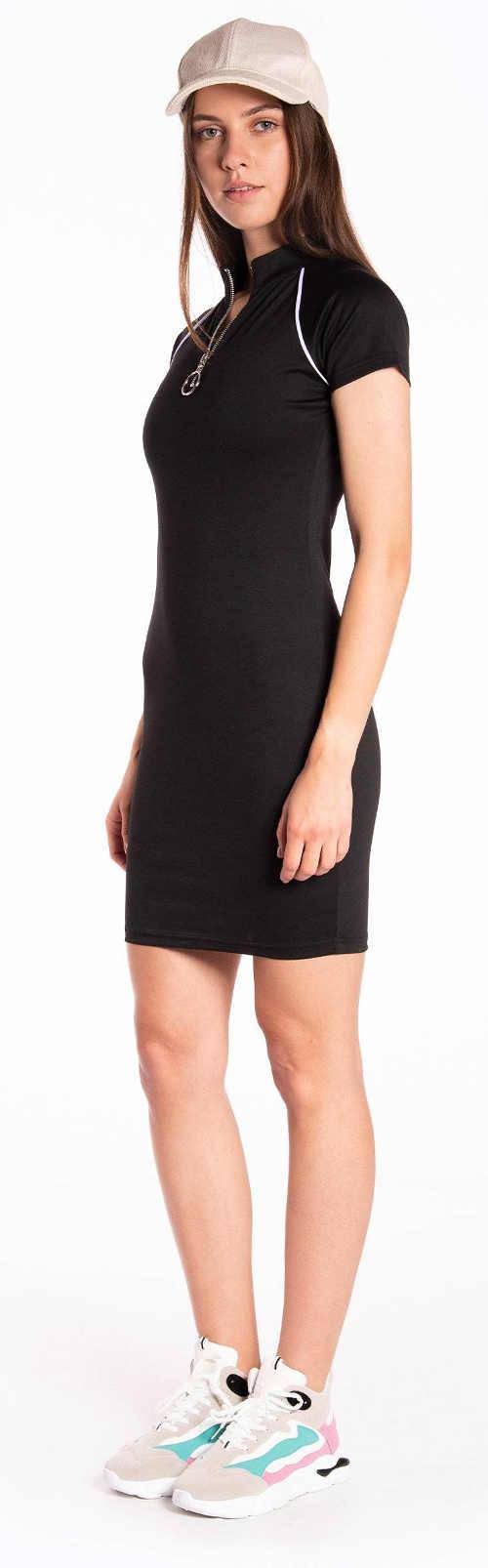 Tričkové dámské sportovní šaty černé barvy