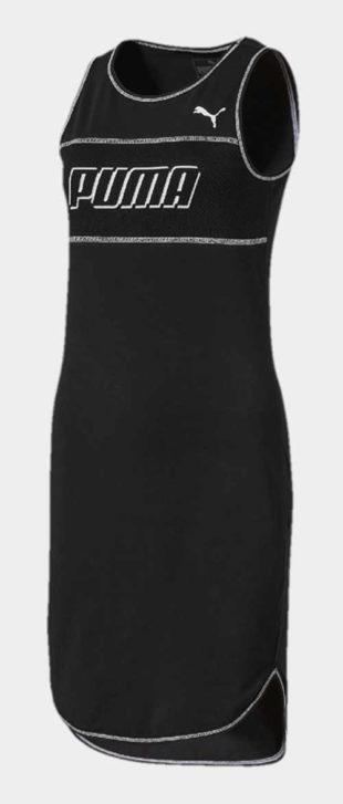 Černé tílkové sportovní dámské šaty Puma