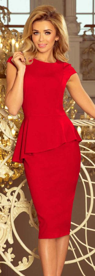 Červené elegantní šaty pro svatební matky