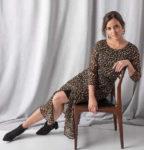 Dlouhé dámské šaty s leopardím vzorem