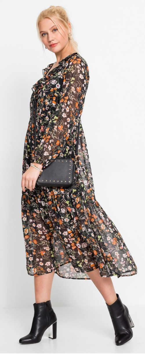Květované šifonové šaty pro starší